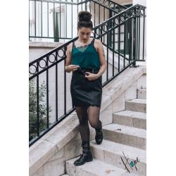 Top Lina vert canard