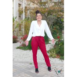 Pantalon Fluide LILO Bordeaux