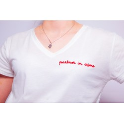 Tee-shirt blanc PARTNER IN...