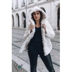 Manteau Nila blanc cassé