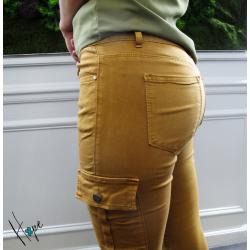 Pantalon cargot Loela camel