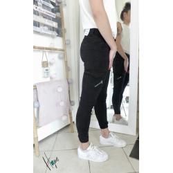 Pantalon cargot Evy noir